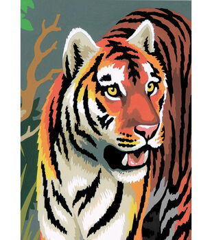 Royal Brush 5''x7'' Paint By Number Kit-Tiger