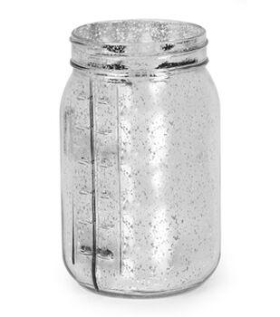 Glass Vintage Jar- Silver Mercury