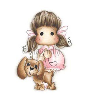 """Animal Of The Year Cling Stamp 5.75""""X5.75"""" Package-Tilda W/Chanel The Puppy"""