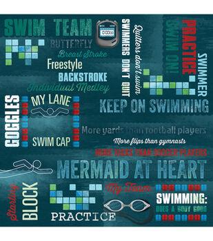 "Swim On - Swim Team Paper 12""x12"""