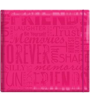 """MBI Gloss Scrapbook 12""""X12""""-Friends-Pink"""