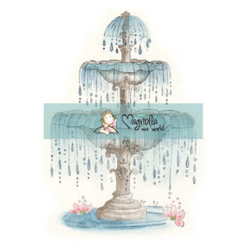 Magnolia Mini Special Moments Cling Stamp Royal Rippling Fountain