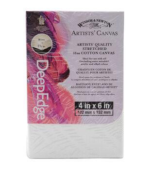 "Winsor & Newton Quality Deep Edge Stretched Canvas-4""X6"""