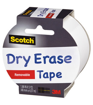 "Scotch (TM) Dry Erase Tape 1.88""X5yd-White"