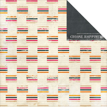 Glitz Design Uncharted Waters Stripe Double-Sided Heavy-Weight Paper