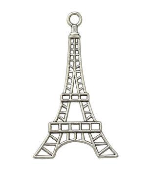 Silver embellishments 20/Pkg-Eiffel Tower