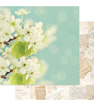 """Beautiful Chic Double-Sided Cardstock 12""""X12""""-In Bloom"""