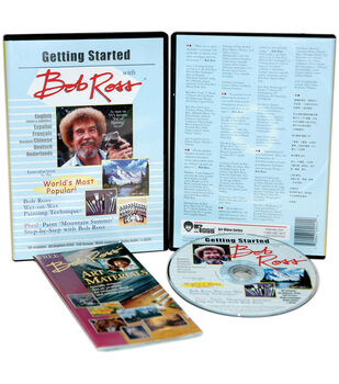 Martin/F. Weber-Bob Ross Getting Started 1 Hour DVD-Oil Painting
