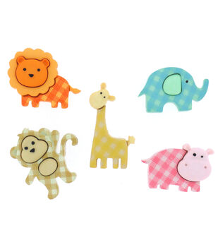 Dress It Up Embellishments-Baby Safari