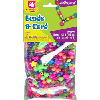 Fibre Craft Beads & Cord Bright