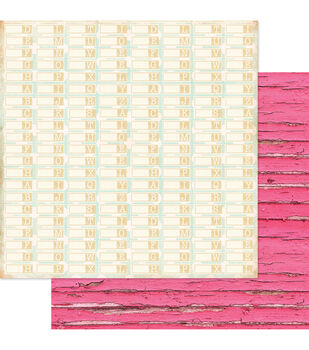 """Beautiful Chic Double-Sided Cardstock 12""""X12""""-Alphabetize"""