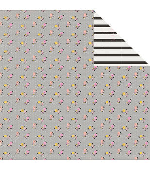 Pink Paislee Bella Rouge Pretty Double-Sided Cardstock