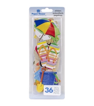 Paper House Fun Beach Self-Adhesive Die-Cuts Stickers