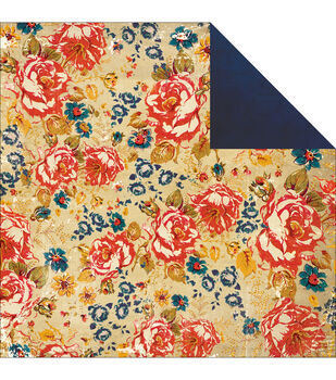 """Yours Truly Double-Sided Heavy-Weight Paper 12""""X12""""-Floral"""