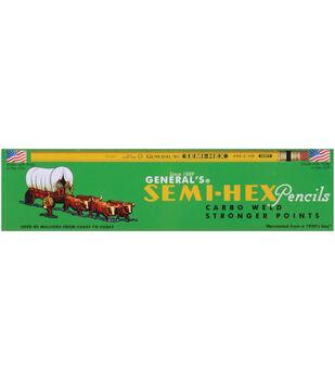 Semi-Hex Graphite #2 Pencils 12/Pkg-2HB