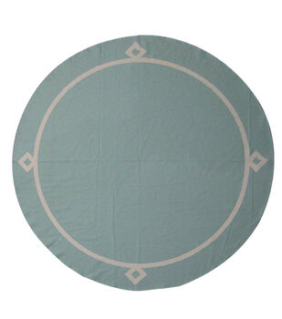 Easter Blue With White Border Round Tablecloth