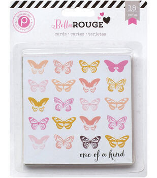 Pink Paislee Bella Rouge Journaling Cards