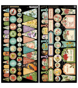 """Time To Flourish Cardstock Die-Cuts 6""""X12"""" Sheets 2/Pkg-Banners"""