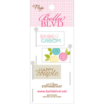 Bella Blvd Love & Marriage Stick Pin Paper Flags