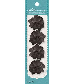 Jolee's Boutique - Black Mini Burlap Flowers
