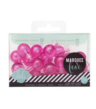 "Heidi Swapp Marquee Love Bulb Caps .75"" 24/Pkg-Pink"