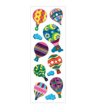 Forever In Time Metallic Hot Air Balloons Chipboard Theme Stickers