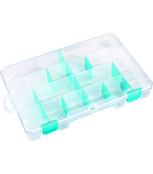 "ArtBin Tarnish Inhibitor Solutions Box 6-12 Compartments-11""X7""X1.75"" Translucent"