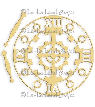 "La-La Land Die-Steampunk Clock, 3""X3"""