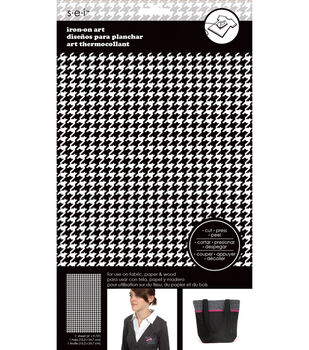 Houndstooth Black And White Soild Transfer Sheet