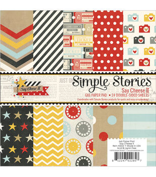 Simple Stories Say Cheese II Paper Pad 6''x6''