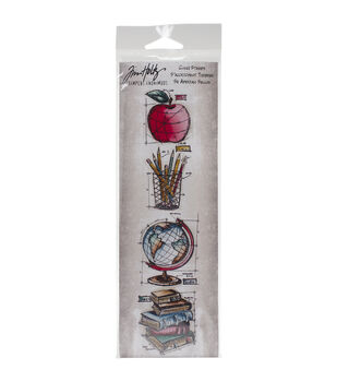 Stampers Anonymous Mini Blueprints Strip Schoolhouse Cling Rubber Stamps