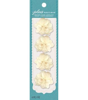Jolee's Boutique - Cream Burlap Mini Flowers