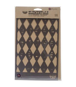 """Prima Elementals Stencil 6.5""""X10.25""""-Harlequin"""