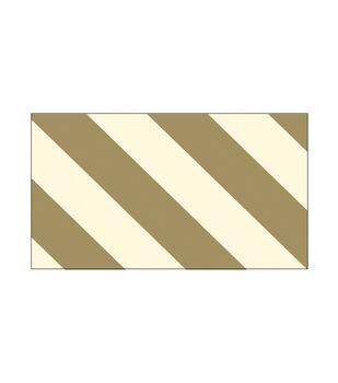 Little B Foil Tape 25mmX10m-Gold Diagonal Stripes