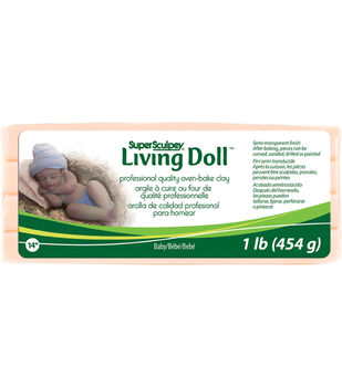 Super Sculpey Living Doll Clay 1 Pound-Baby