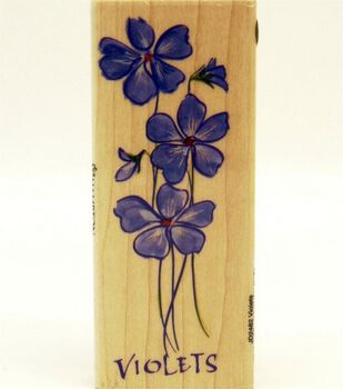 Hampton Art Rubber Stamp-Violets