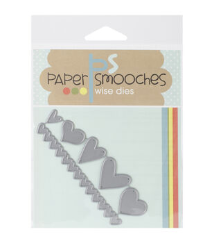 Paper Smooches Die-Hearts