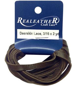 Deerskin Lace Black 5mm X 2yd