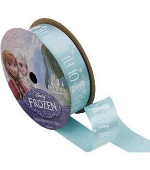 "Frozen Ribbon 7/8""x9'-Olaf Silhouette"
