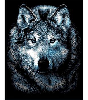 Silver Scraperfoil Kit 8''X10''-Wolf