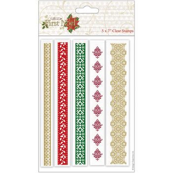 Docrafts Papermania First Noel Clear Stamps Borders