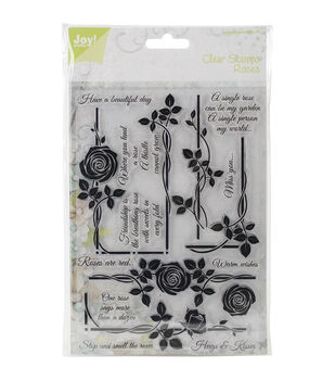 Joy! Crafts Roses - Have A Beautiful Day Clear Stamps