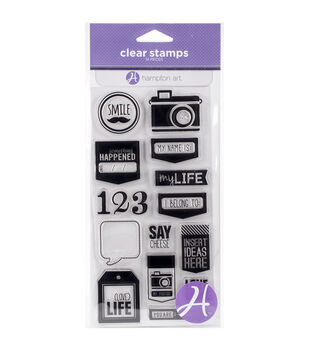 Hampton Art Say Cheese Clear Stamps