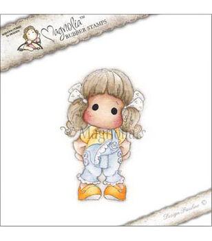 """Pink Lemonade Cling Stamp 3.75""""X6.5"""" Package-Tilda W/Summer Pants"""