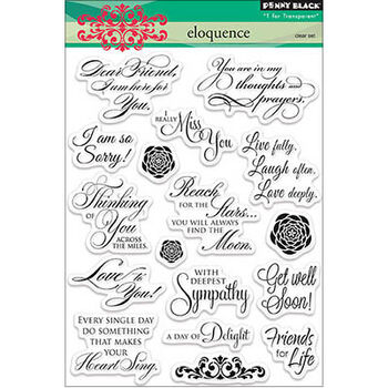 Penny Black Clear Stamps Sheet Eloquence
