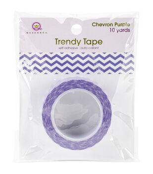 Trendy Tape Core Collection 15mmX10yd-Chevron Purple