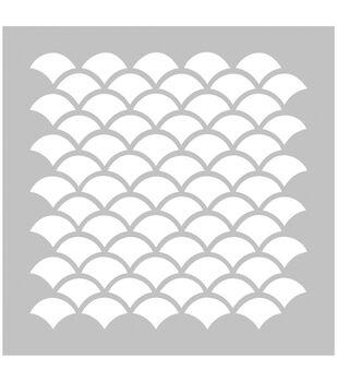 FabScraps Plastic Scallops Stencil
