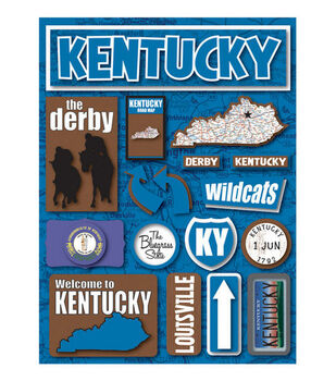 Reminisce Dimensional Stickers-Kentucky