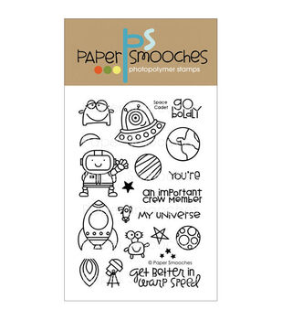 Paper Smooches Clear stamps Space Cadet