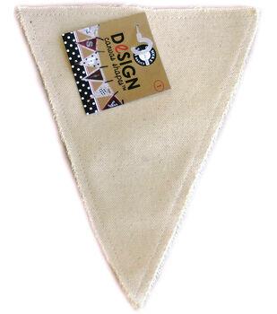 Canvas Corp Paintable Canvas Shapes-Triangle 1/Pkg
